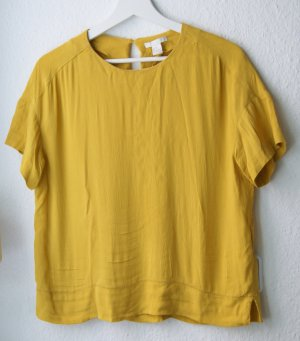 Bluse Gelb Oversize Viskose Trend XS 34 36