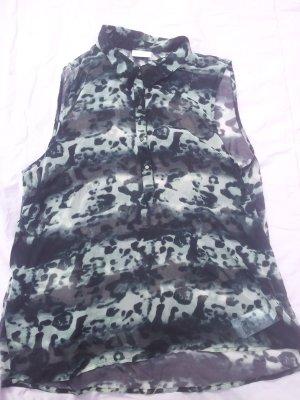 Bluse gemustert VILA durchsichtig ohne Ärmel Gr. M