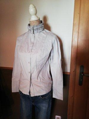 Bluse gerüschter Kragen grau Gr. 38 Votre Mode Rüschen besonders