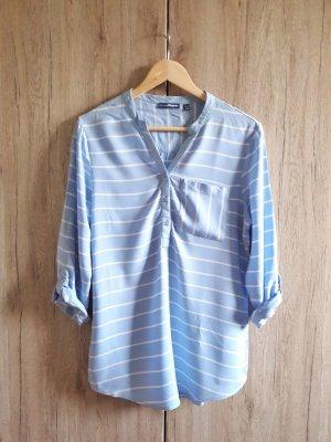 Bluse gestreift blau weiß Gr. 40