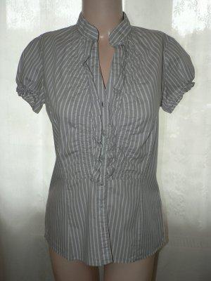 Bluse gestreift grau