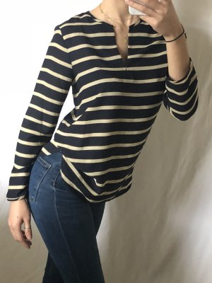 Bluse gestreift schwarz beige Blogger Fashion Swag Style yolo Trend Basic Statement