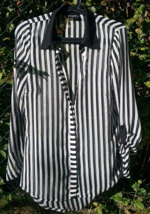 Bluse * gestreift* schwarz/weiß * Gr. 38 *