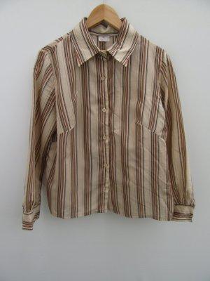 Bluse gestreift Vintage Retro Gr. L oversize