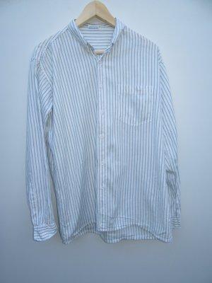 Bluse gestreift Vintage Retro weiß basic Gr. L