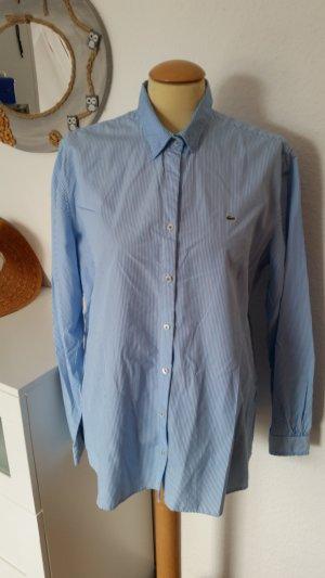 Bluse gestreift weiß-blau Gr. 48 Lacoste Langarm