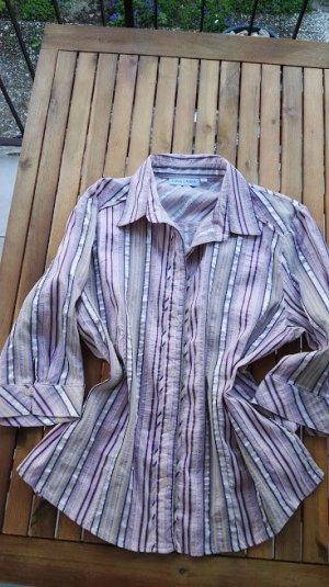 Gina Laura Glanzende blouse veelkleurig Katoen
