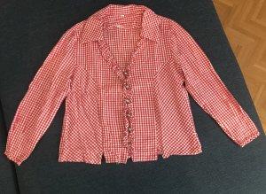 Chemise bavaroise blanc-rouge