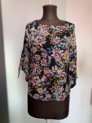 H&M Blusa con lazo multicolor