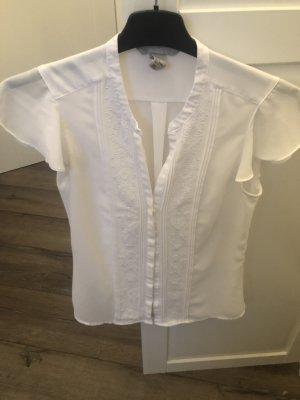 H&M Short Sleeved Blouse white