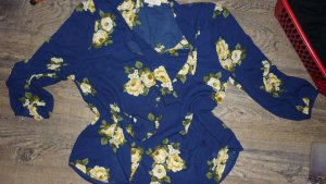 Blusa con lazo azul-amarillo