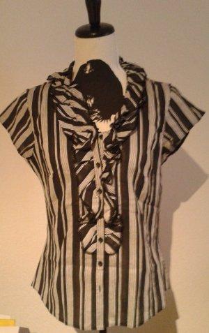 Bluse, Gr.38 , schwarz- weiß