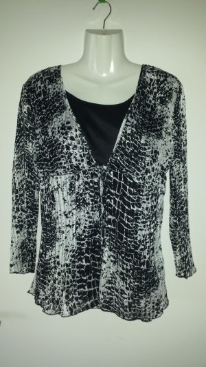 C&A Blusa de túnica negro-blanco Poliéster