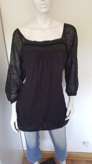 Karla Lange blouse zwart
