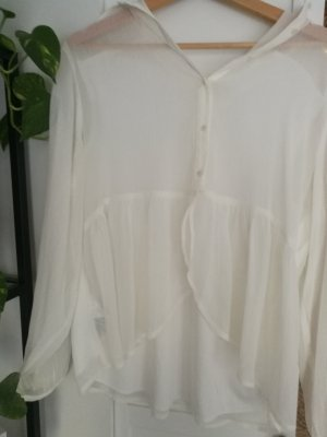 Yessica Blouse à manches longues blanc