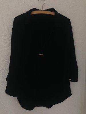 Bluse Gr. M schwarz mit goldenen Details