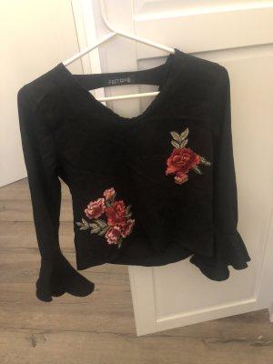 Topshop Blouse-chemisier noir-rouge