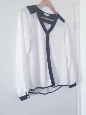 Ann Christine Long Sleeve Blouse white-black