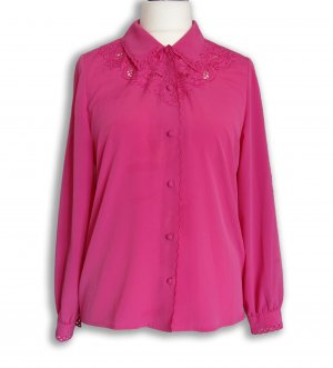 Long Sleeve Blouse pink-pink