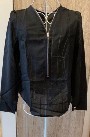 Bluse *Gr. XS* Schwarz transparent