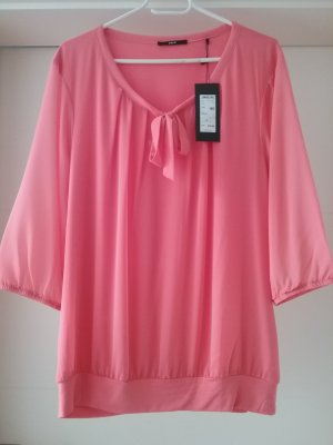 Zero Tie-neck Blouse salmon viscose