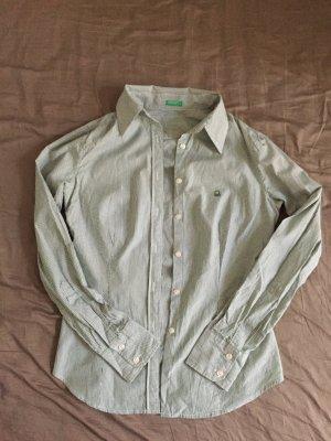 Bluse, grün gestreift