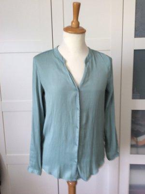 Bluse, grün, mint, langärmelig, Punkte, H&M, Gr. 34
