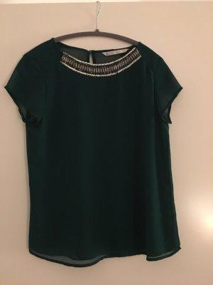 Bluse Grün mit Pailletten Gr. S