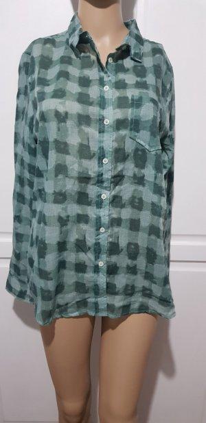 Basefield Blusa de manga larga azul cadete-verde
