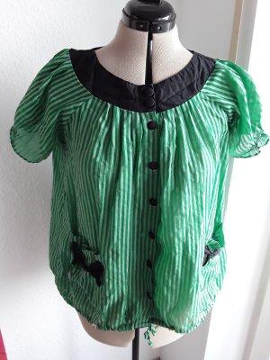 Bluse grüne Streifen Oberteil
