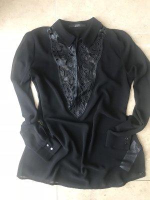 Bluse Guess Leder Ausschnitt Gr M Long Bluse