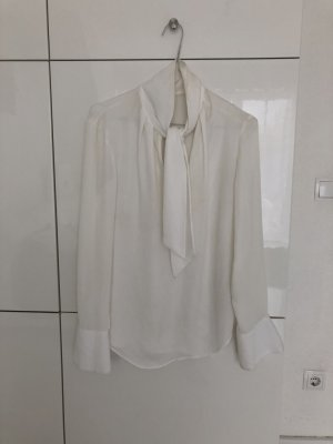 H&M Tie-neck Blouse white