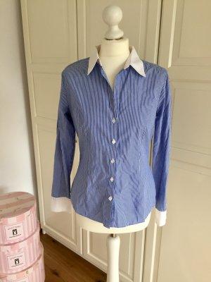 Bluse H&M blau weiß gestreift 38
