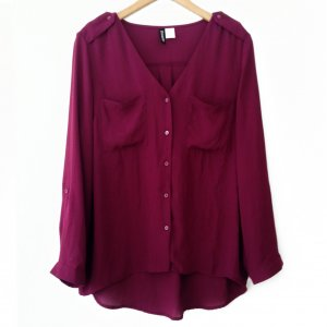 Bluse, H&M, Bordeaux, Größe 36
