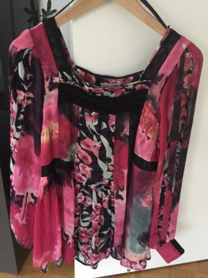 Bluse H&M florales Muster pink/schwarz 36