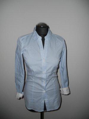 Bluse H&M gestreift blau weiß Gr. 34