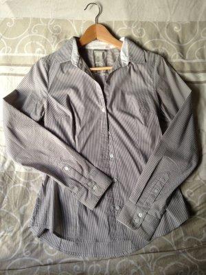 Bluse H&M gestreift grau weiß Gr. 40