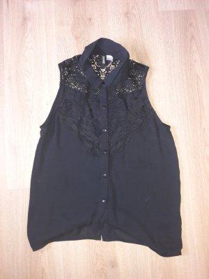bluse h&m gr. 40 schwarz