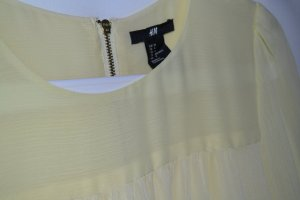 Bluse H&M Hellgelb Pastell Chiffon Gr. 34