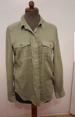 Bluse H&M L.O.G.G. grün hell 38 Knöpfe Taschen