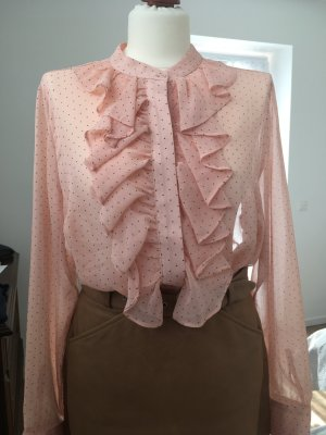 H&M Ruche blouse nude Acryl