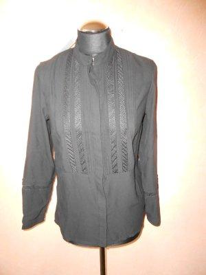 Bluse H&M schwarz mit Spitze Gr. 38