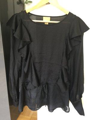 H&M Blouse à enfiler noir polyester