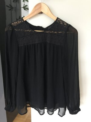 H&M Slip-over blouse zwart Polyester