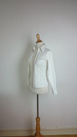 Bluse, h&m, xs, weiß, creme,Biesen, tailliert