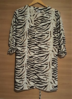Tunique-blouse crème-brun noir