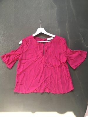 Bluse halbarm, oberarmfrei, Gr. 38, pink