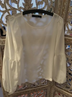 Hallhuber Glanzende blouse wit Viscose