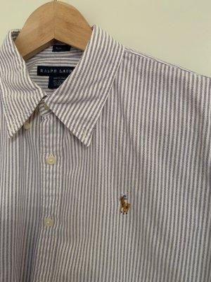 Bluse, hellblau weiß gestreift, Ralph Lauren