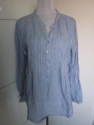 Bluse Hellblau Weiss Gr 44 auch für Mamas